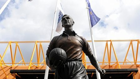 The Statue of Billy Wright outside Wolverhampton Wanderers Football Club