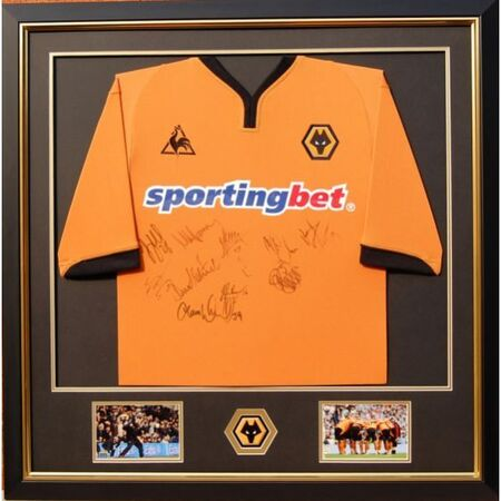 Wolves framed and mounted signed shirt - first team players 2009/2010 Premier League Squad