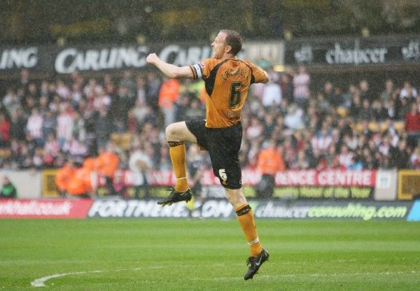 Football - Wolverhampton Wanderers v Southampton Coca-Cola Football League Championship - Molineux - 10/4/09 Wolves' Jody Craddock celebrates scoring their second goal Mandatory Credit: Action Images / Paul Childs Livepic