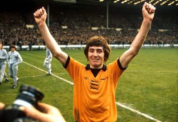 Wolverhampton Wanderers' winning goalscorer John Richards celebrates victory after the match