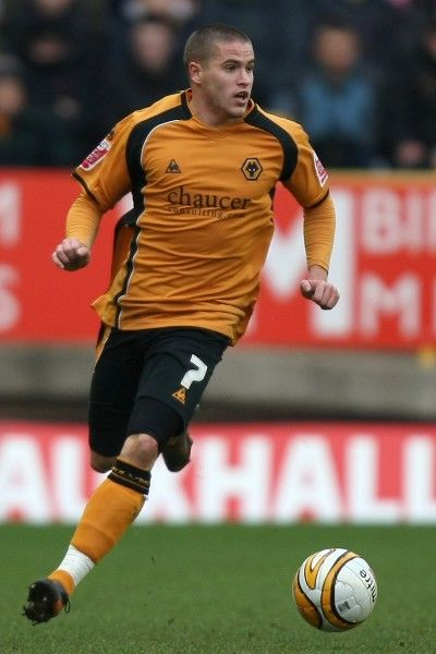 Michael Kightly, Wolves, Coca Cola Championship Wolves vs Watford at Molineux Stadium 31/1/109