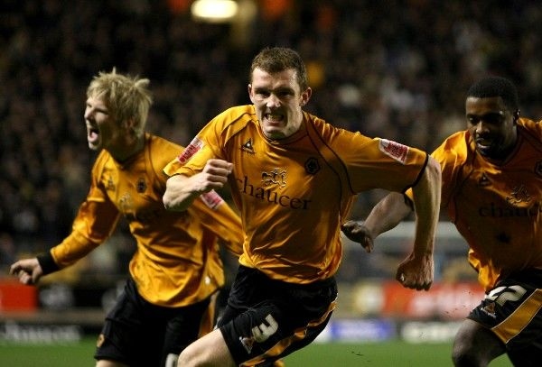 Wolverhampton Wanderers' Neill Collins celebrates scoring their second goal of the game