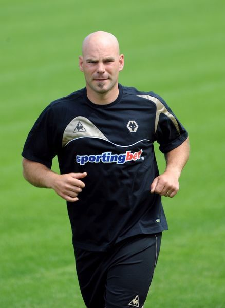 Marcus Hahnemann of Wolverhampton Wanderers during the clubs first day back at training before their new Premier League season