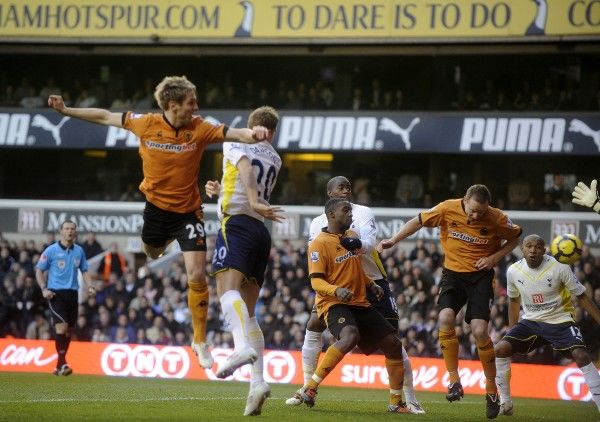 Kevin Doyle of Wolverhampton Wanderers scores a goal to make it 0-1
