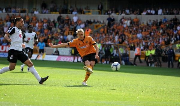 David Edwards of Wolverhampton Wanderers scores a goal to make it 2-0