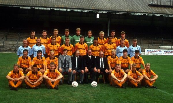 Wolverhampton Wanderers squad 1991-92: (back row, l-r) Steve Bull, Robbie Dennison, Mark Venus, Vince Bartram, Mike Stowell, Tony Lange, Paul Jones, Paul Cook, Robbie Mutch (middle row, l-r) youth team coach Barry Powell, coach Gary Pendrey