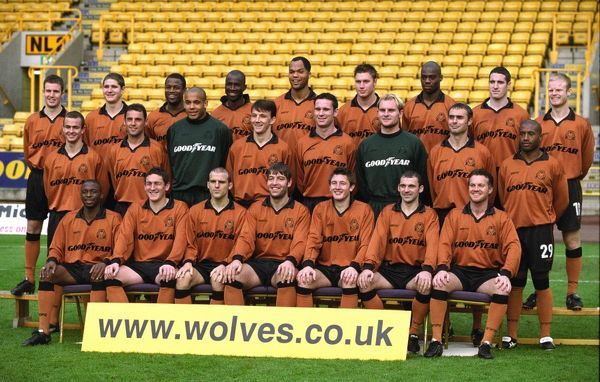 WOLVES TEAM PIC 2002 ? Back row. Miller, Robinson, Blake, Camara, Lescott, Proudlock, Ndah, Kennedy, Connolly. Middle row Branch, Muscat. Murray, Ludo, Roussel, Oakes, Pollet, Bazeley, Sturridge. Front row Newton, Andrews, Rae