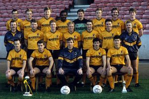 Wolves team 1988.Back row Steve Bull, Nicky Clarke, Gary Bellamy, Flyd Streete